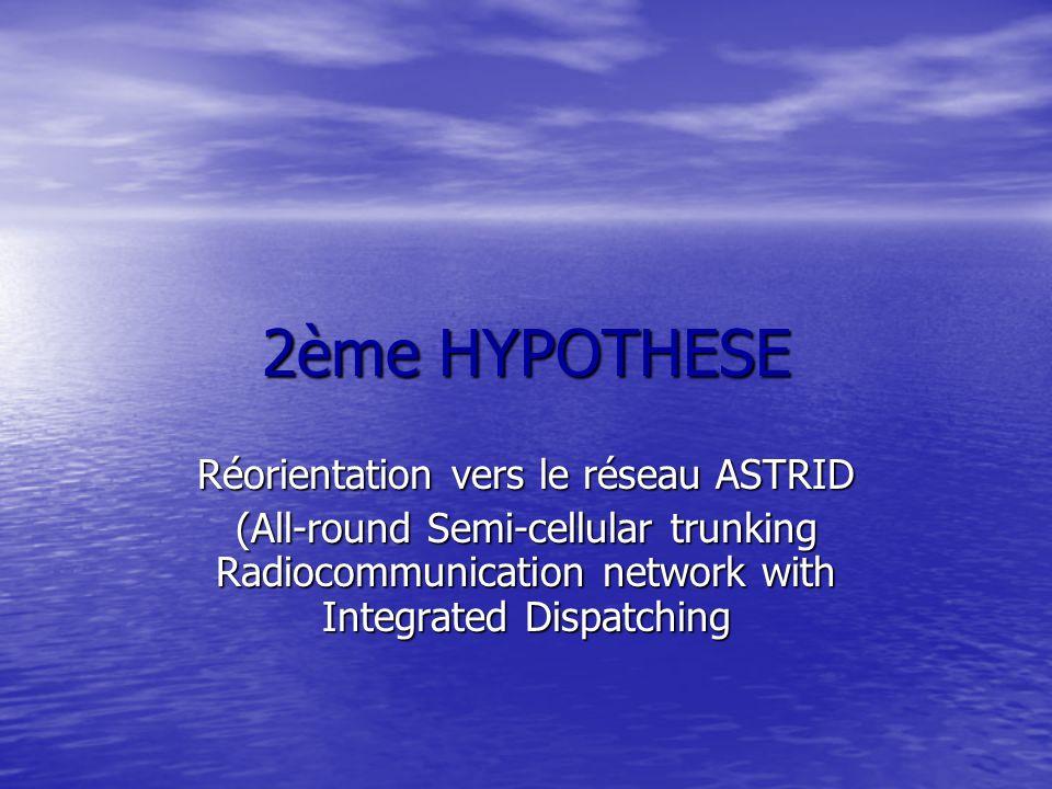 Réorientation vers le réseau ASTRID