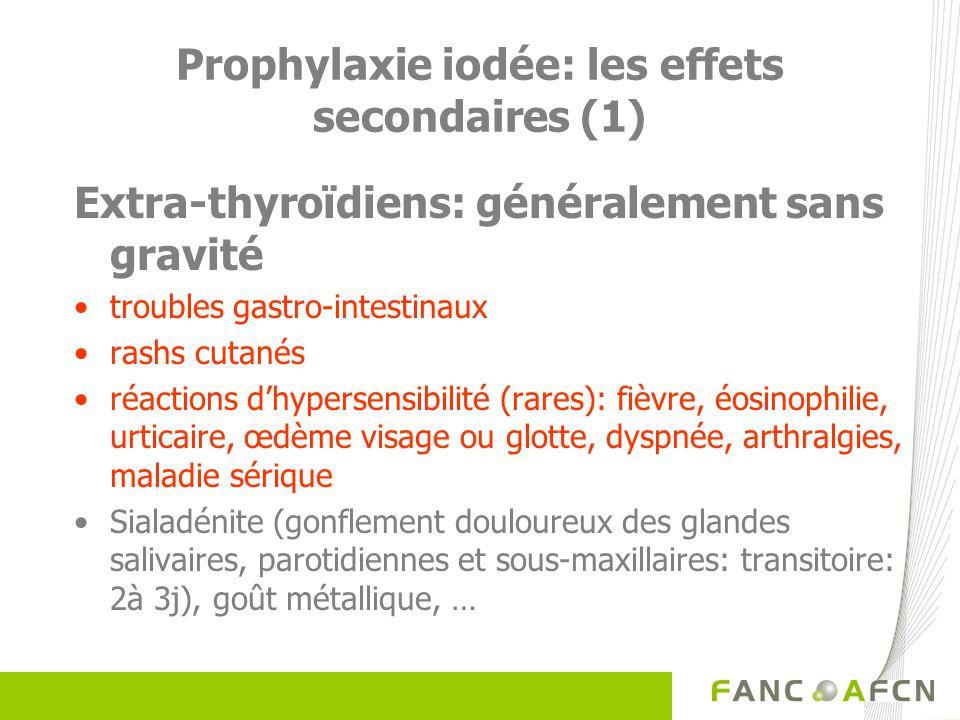 Prophylaxie iodée: les effets secondaires (1)