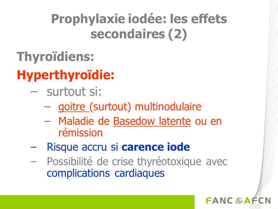 Prophylaxie iodée: les effets secondaires (2)