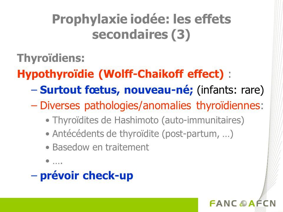 Prophylaxie iodée: les effets secondaires (3)