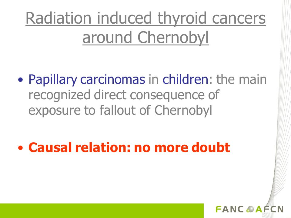 Radiation induced thyroid cancers around Chernobyl