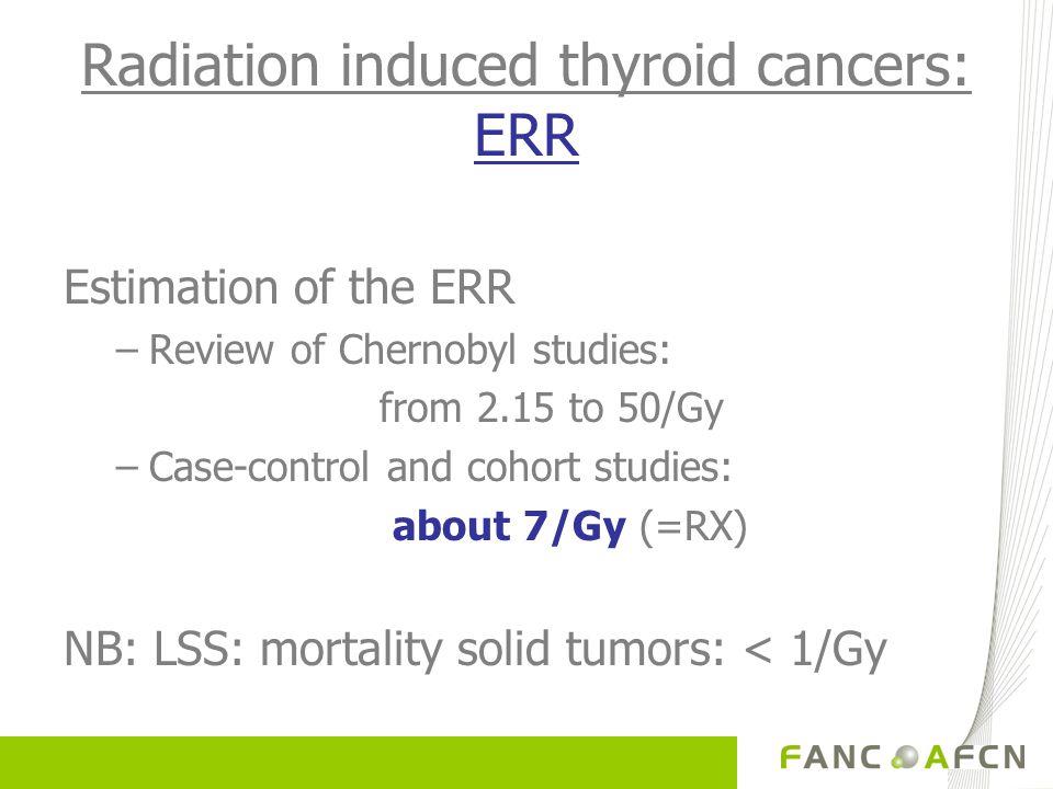 Radiation induced thyroid cancers: ERR