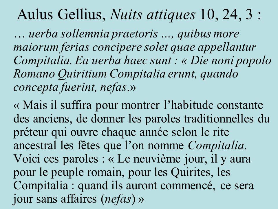 Aulus Gellius, Nuits attiques 10, 24, 3 :