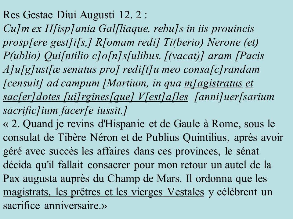 Res Gestae Diui Augusti 12