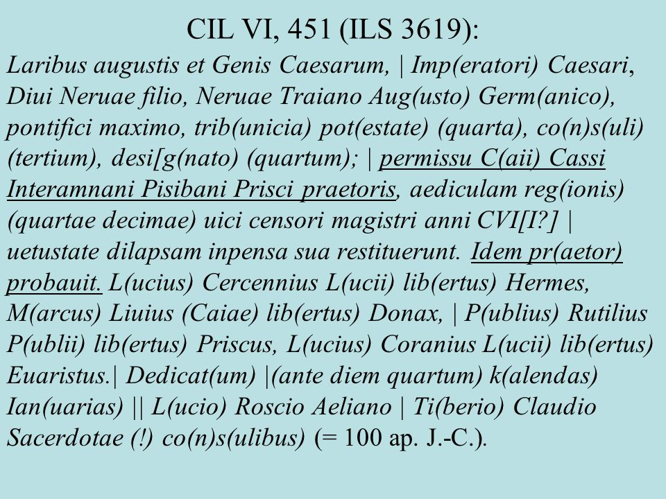CIL VI, 451 (ILS 3619):