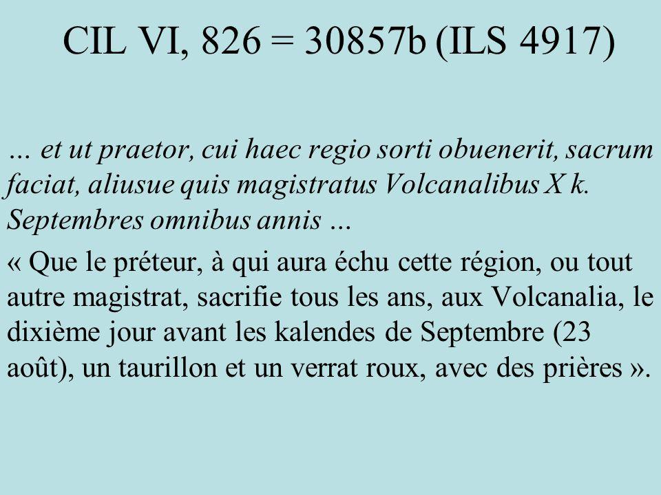 CIL VI, 826 = 30857b (ILS 4917)