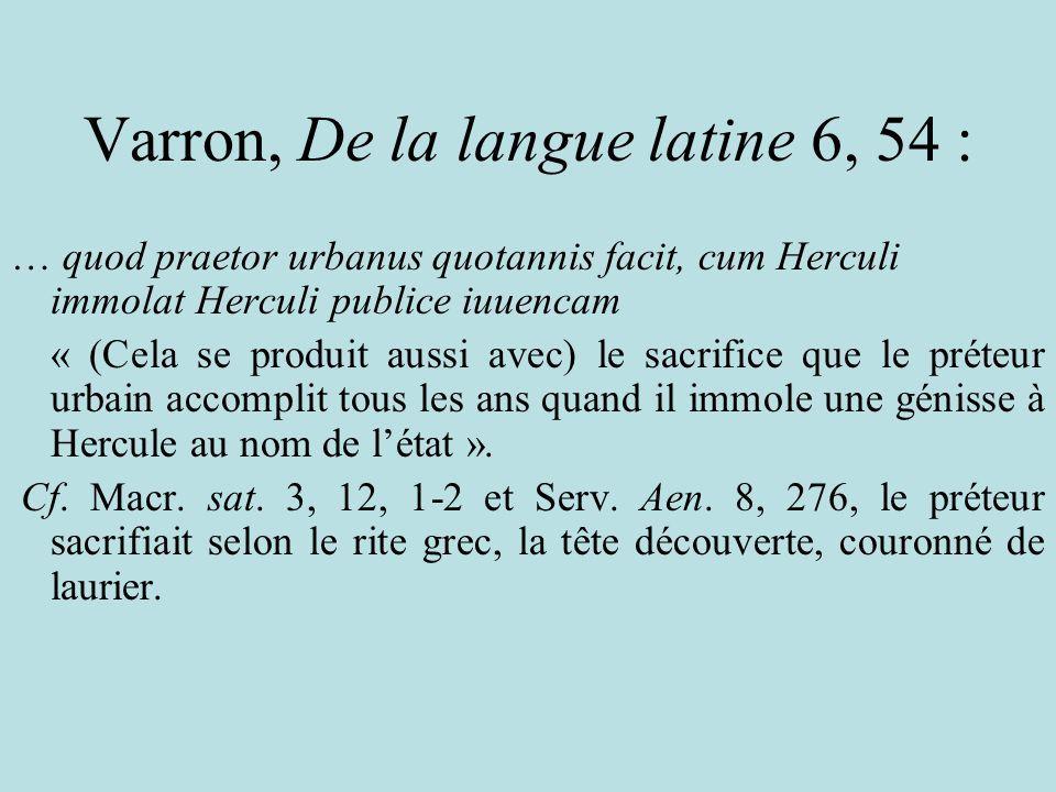 Varron, De la langue latine 6, 54 :
