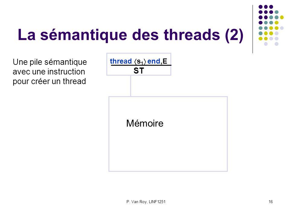 La sémantique des threads (2)