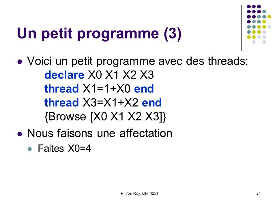 Un petit programme (3)