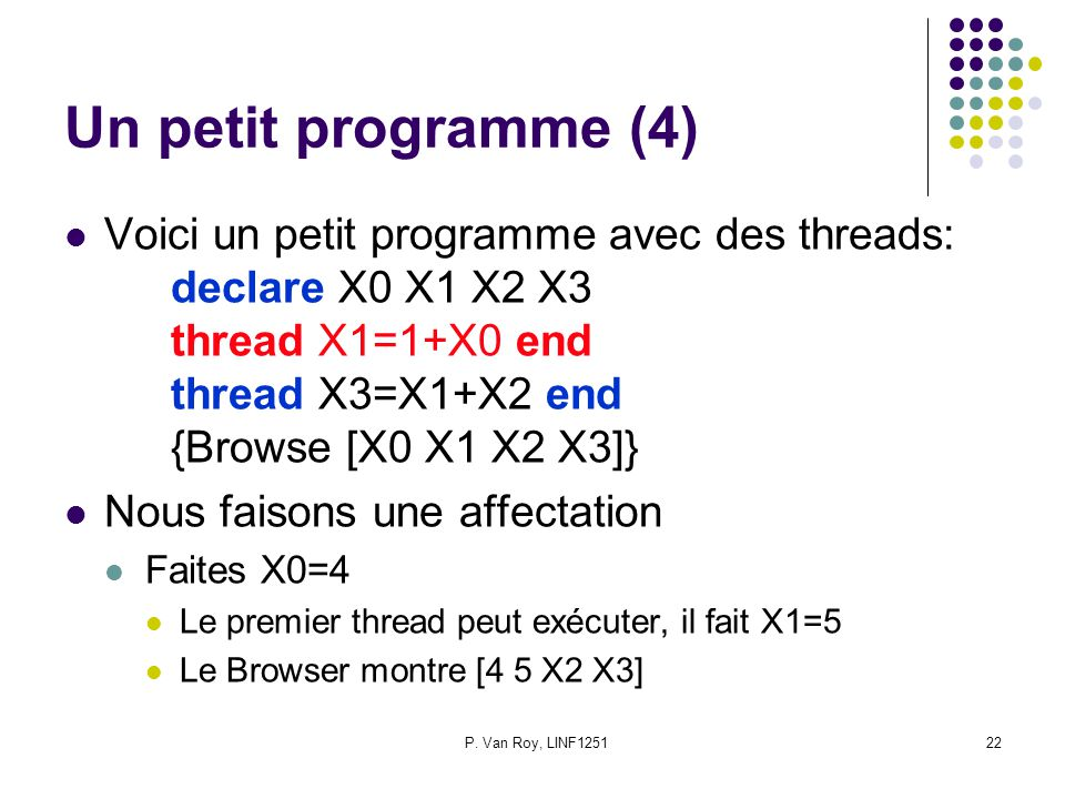 Un petit programme (4)
