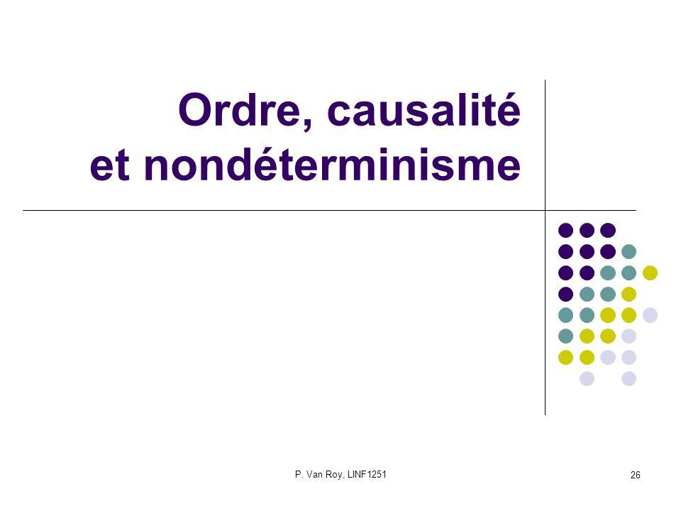 Ordre, causalité et nondéterminisme