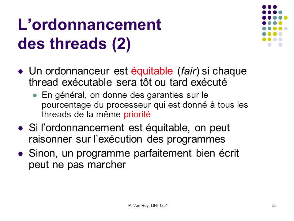 L'ordonnancement des threads (2)