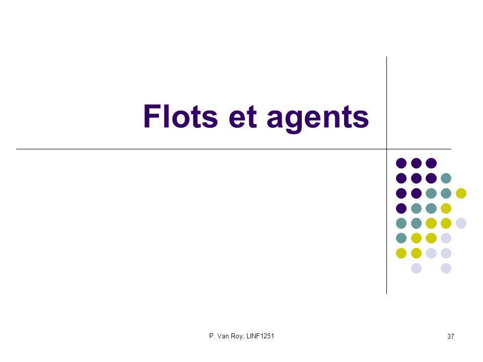 Flots et agents P. Van Roy, LINF1251