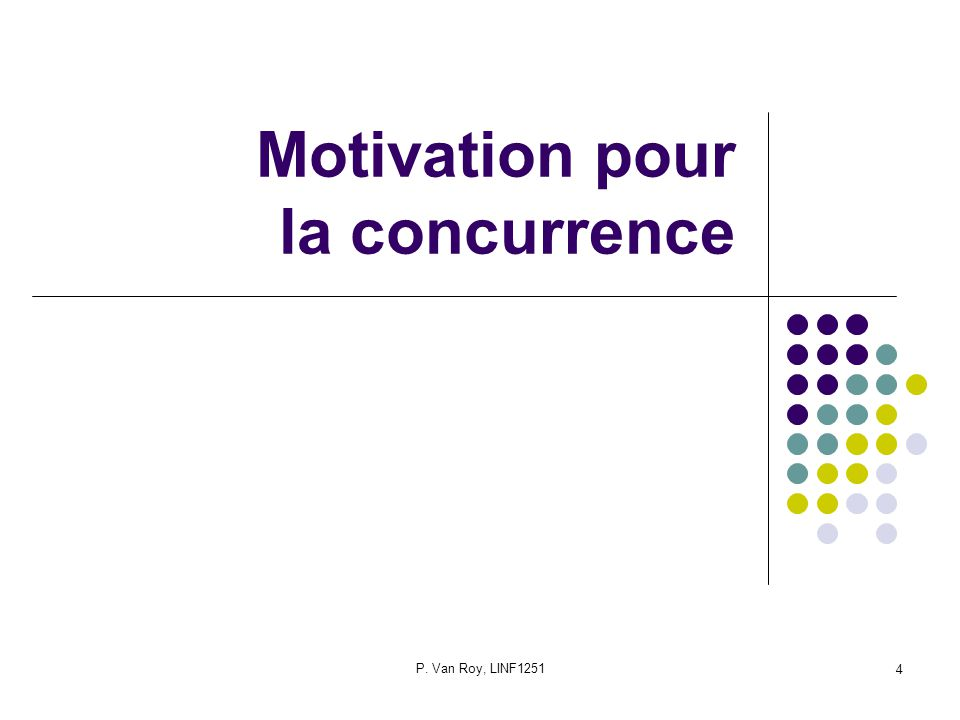 Motivation pour la concurrence