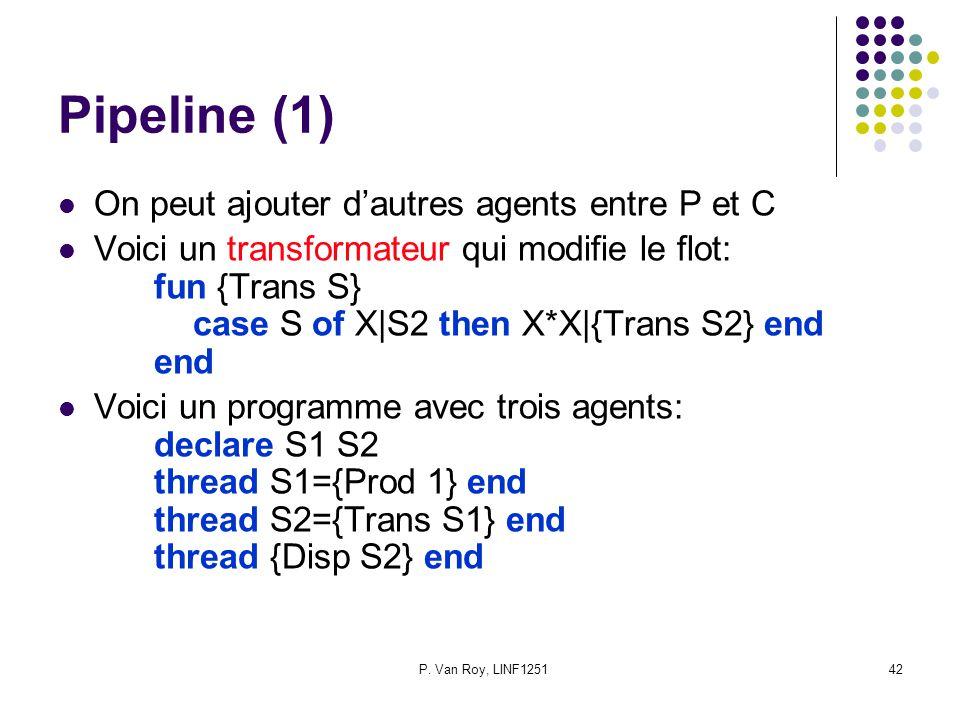 Pipeline (1) On peut ajouter d'autres agents entre P et C