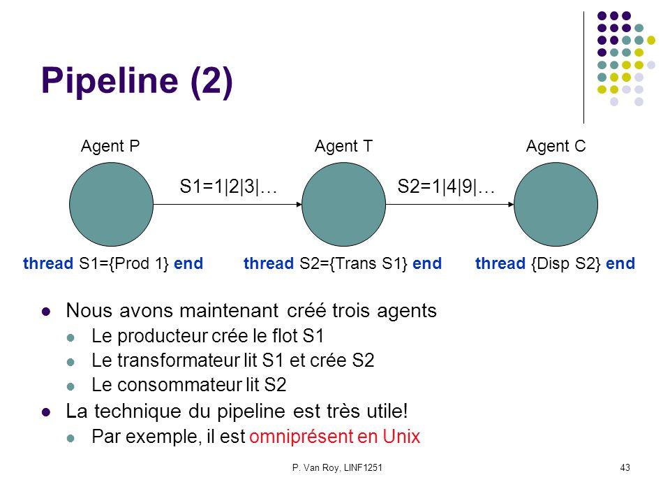 Pipeline (2) Nous avons maintenant créé trois agents