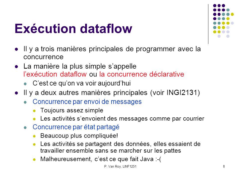 Exécution dataflow Il y a trois manières principales de programmer avec la concurrence.