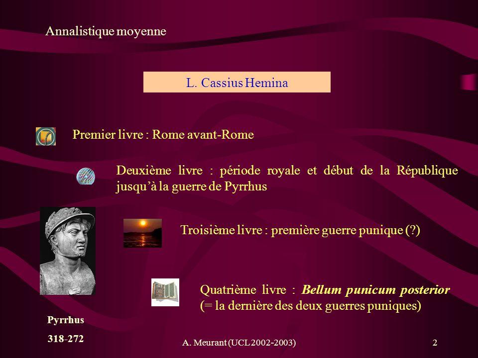 Premier livre : Rome avant-Rome