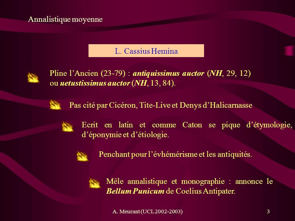Pas cité par Cicéron, Tite-Live et Denys d'Halicarnasse