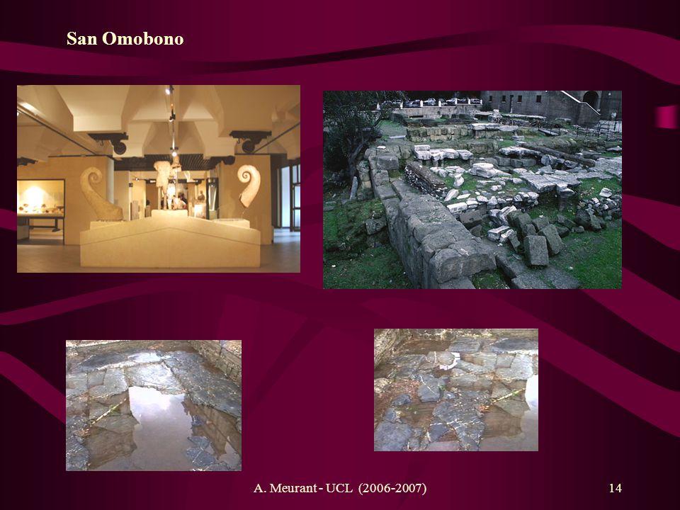 San Omobono Athéna ( ) et Héraclès A. Meurant - UCL (2006-2007)