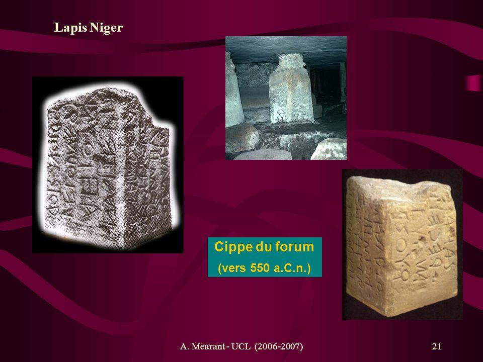 Lapis Niger Cippe du forum (vers 550 a.C.n.)