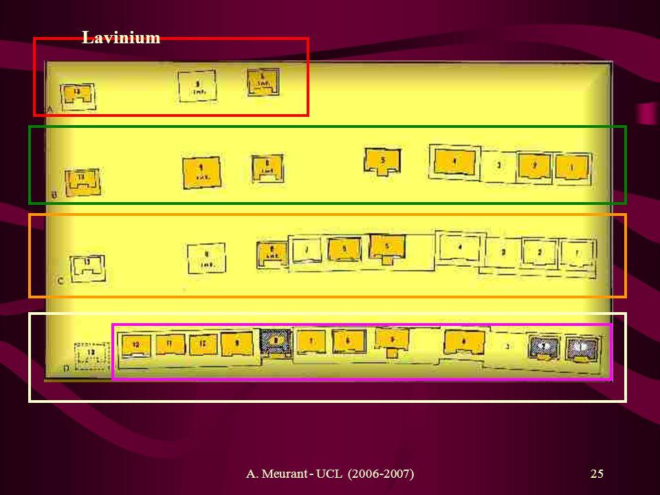 Lavinium A. Meurant - UCL (2006-2007)