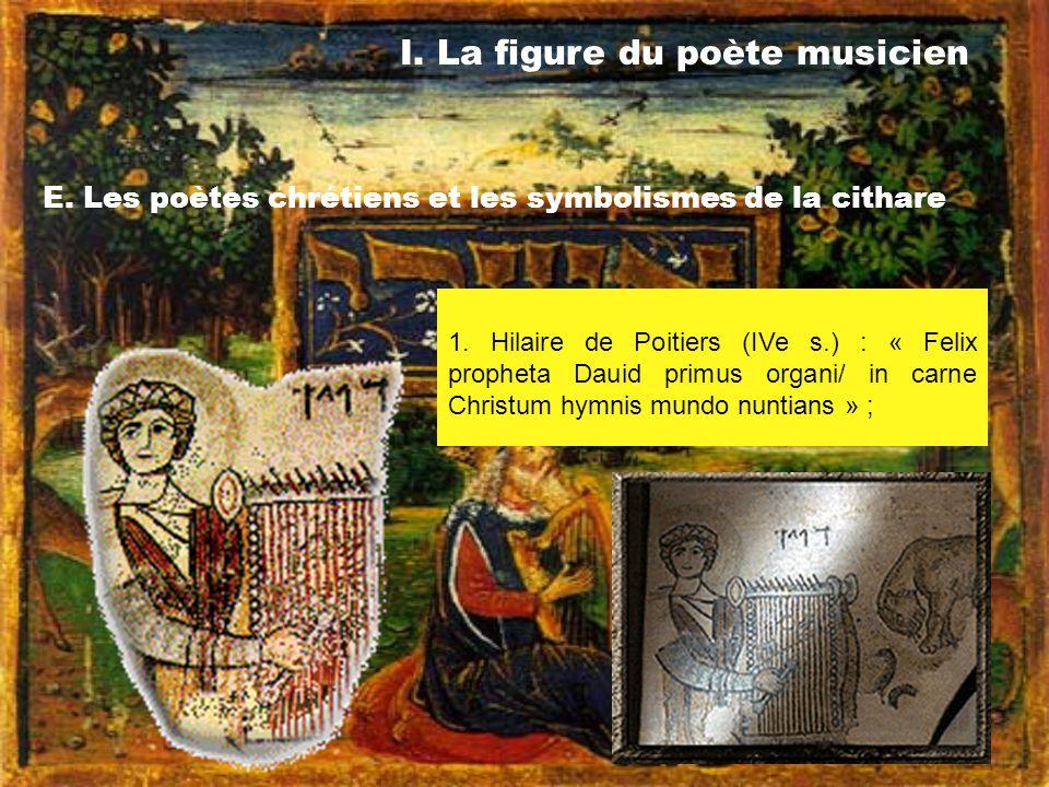 I. La figure du poète musicien