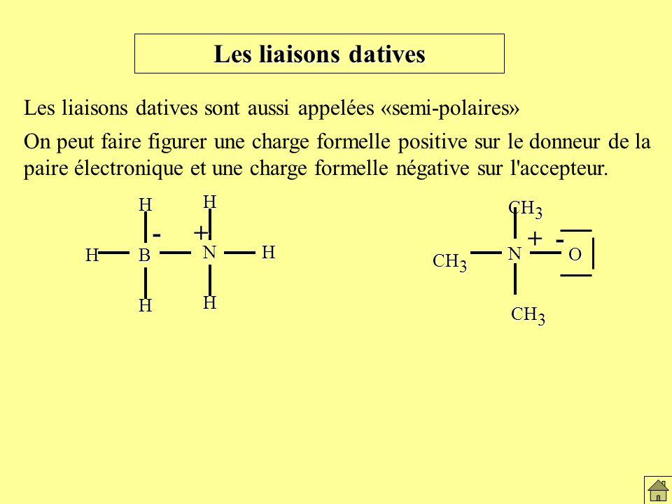 Les liaisons datives - + + -