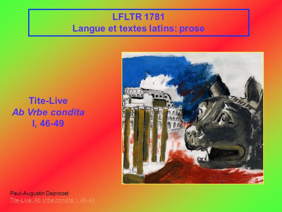 Langue et textes latins: prose