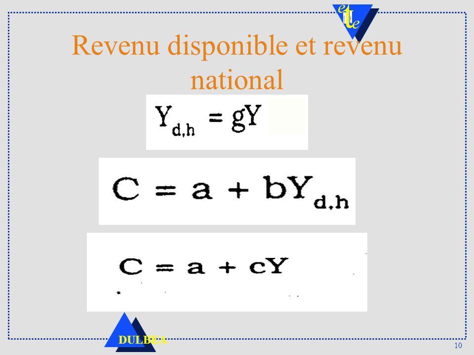 Revenu disponible et revenu national