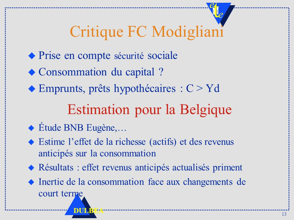 Critique FC Modigliani