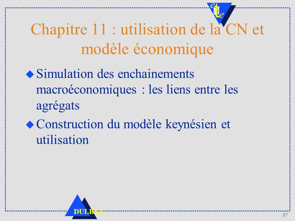Chapitre 11 : utilisation de la CN et modèle économique