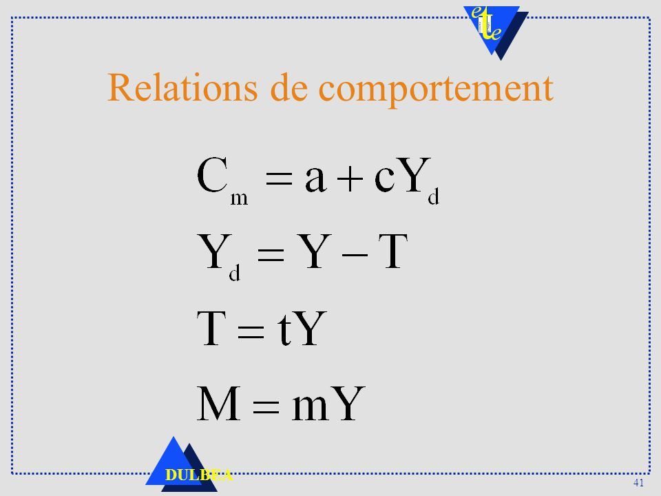 Relations de comportement