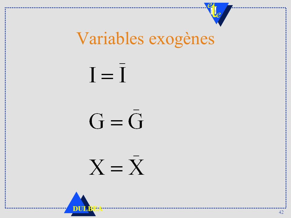Variables exogènes