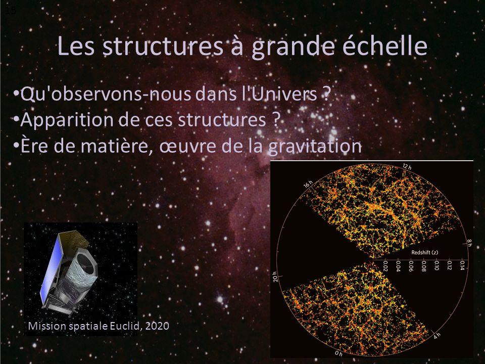 Les structures à grande échelle