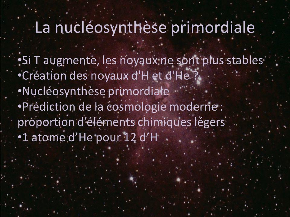 La nucléosynthèse primordiale