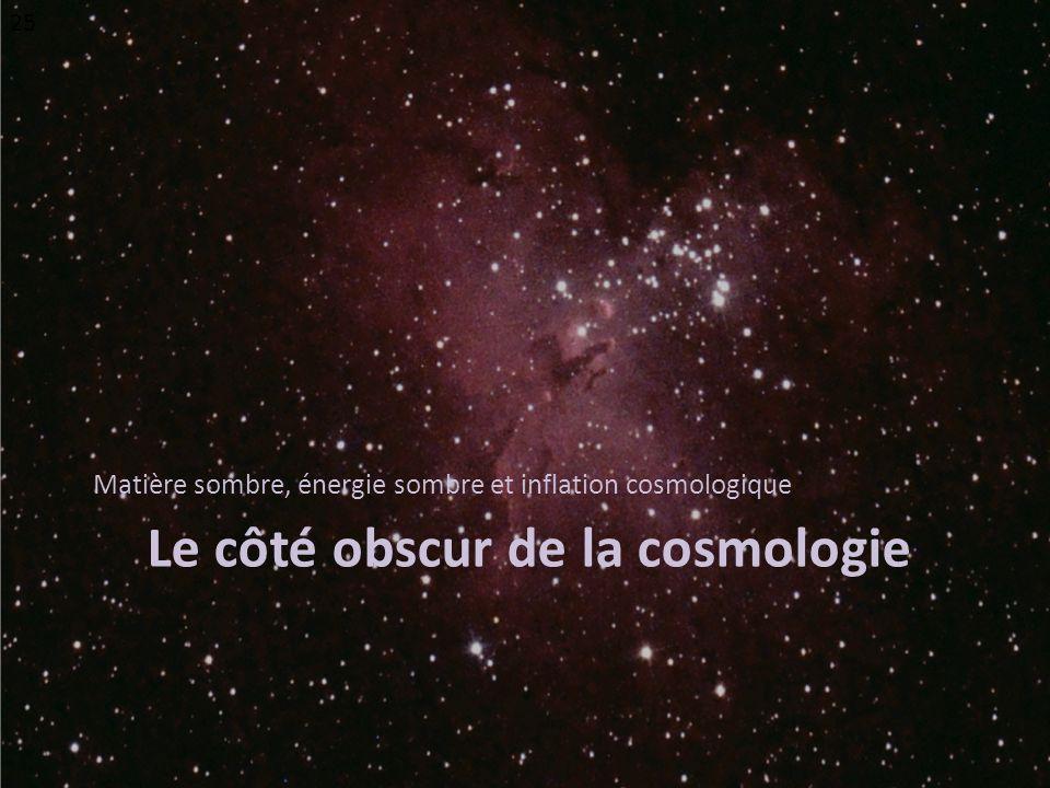 Le côté obscur de la cosmologie