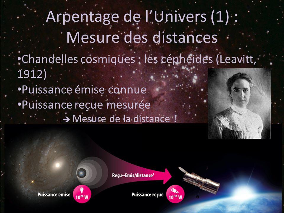 Arpentage de l'Univers (1) :