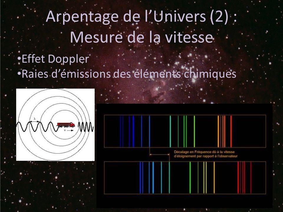 Arpentage de l'Univers (2) :