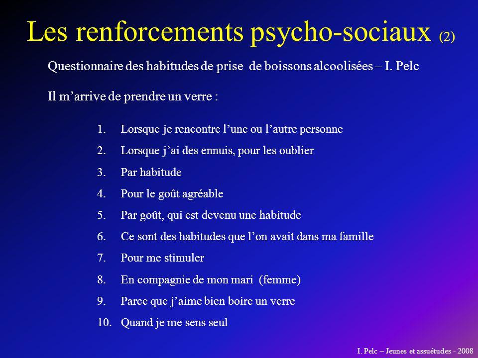 Les renforcements psycho-sociaux (2)