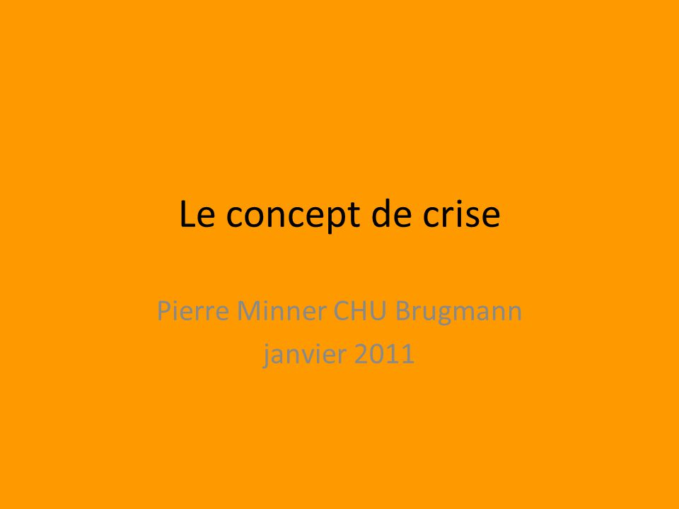 Pierre Minner CHU Brugmann janvier 2011