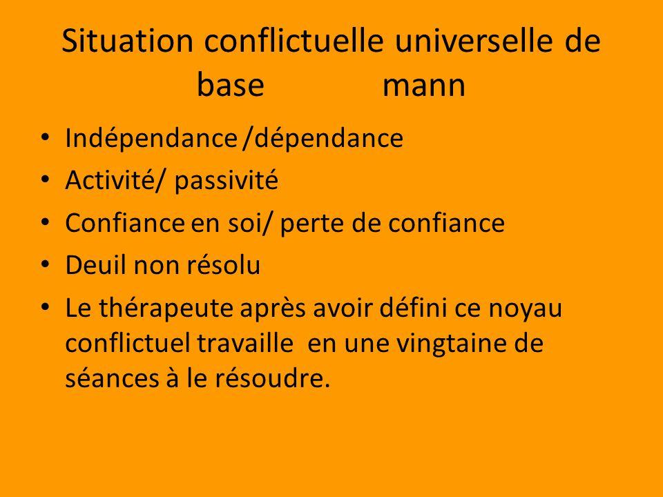 Situation conflictuelle universelle de base mann