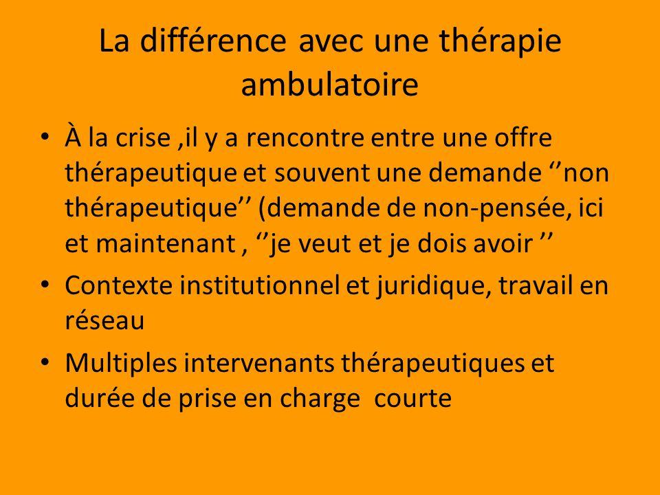 La différence avec une thérapie ambulatoire