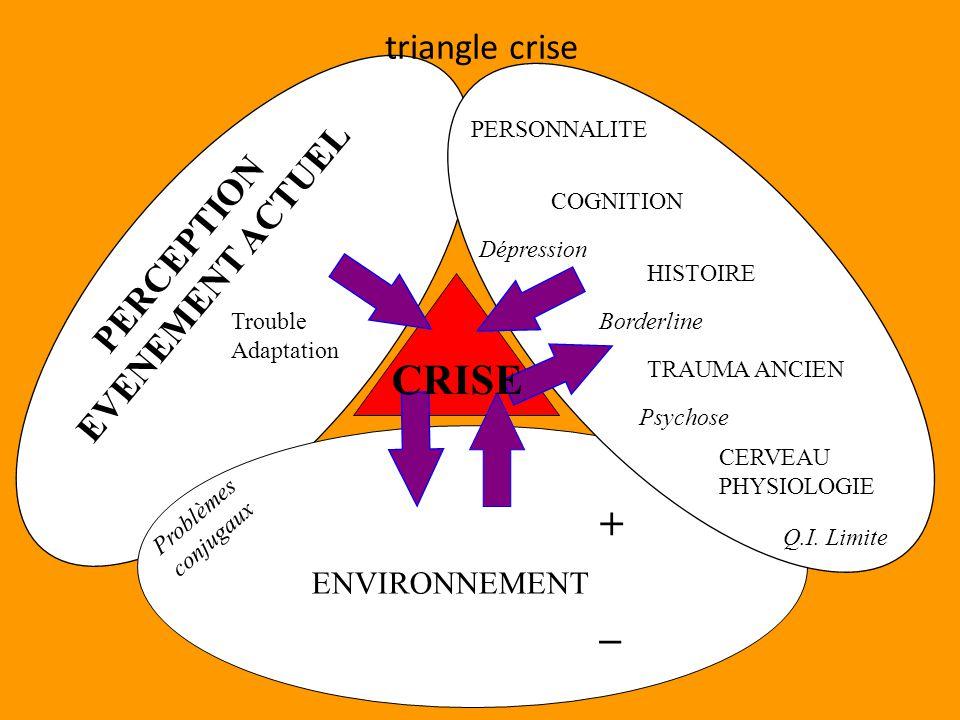 CRISE + _ triangle crise EVENEMENT ACTUEL PERCEPTION ENVIRONNEMENT