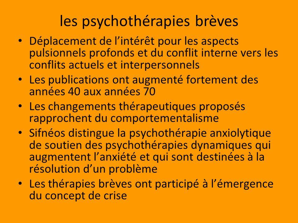 les psychothérapies brèves