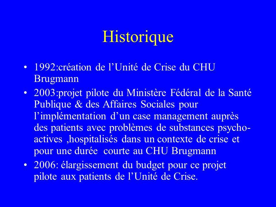 Historique 1992:création de l'Unité de Crise du CHU Brugmann