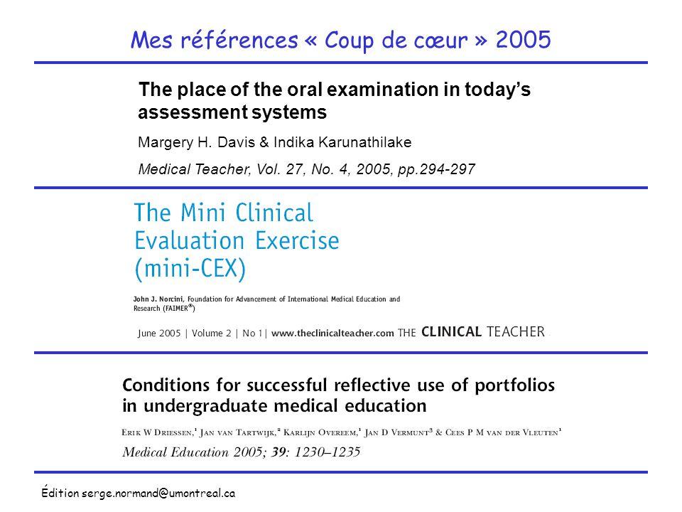 Mes références « Coup de cœur » 2005