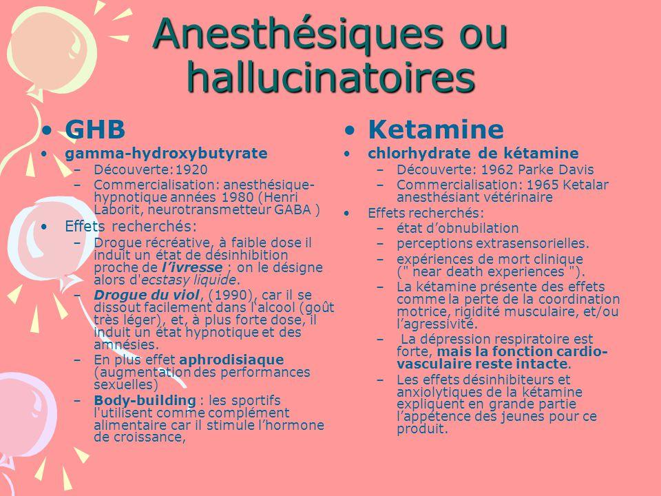 Anesthésiques ou hallucinatoires