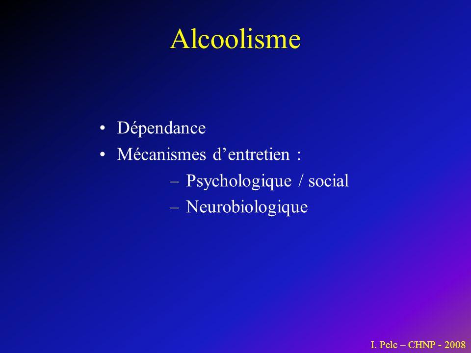 Alcoolisme Dépendance Mécanismes d'entretien : Psychologique / social