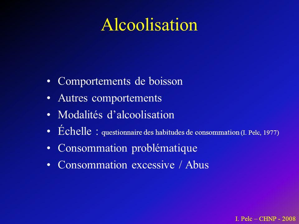 Alcoolisation Comportements de boisson Autres comportements
